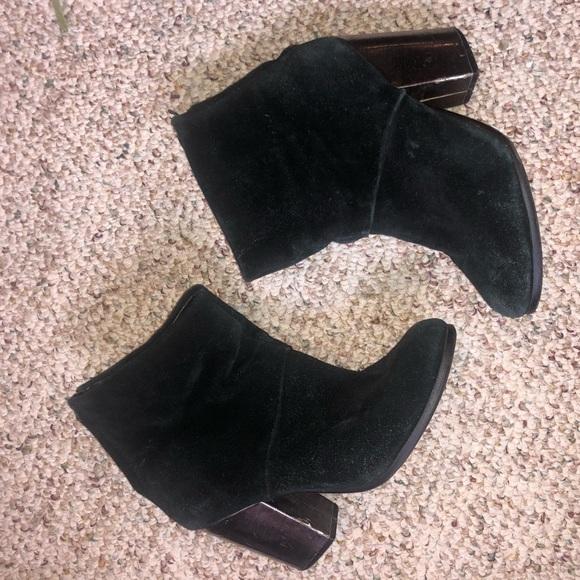 Aldo Shoes - Aldo suede booties with silver heel